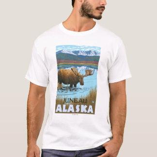 T-shirt Orignaux buvant au lac - Juneau, Alaska