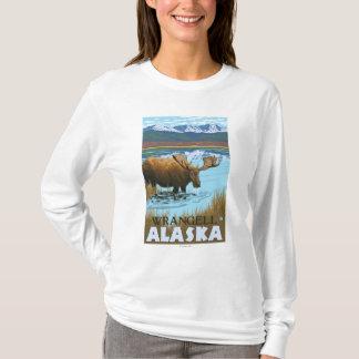 T-shirt Orignaux buvant au lac - Wrangell, Alaska