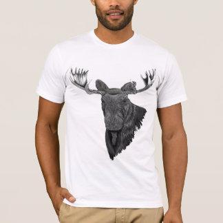 T-shirt Orignaux de Taureau de Canadien