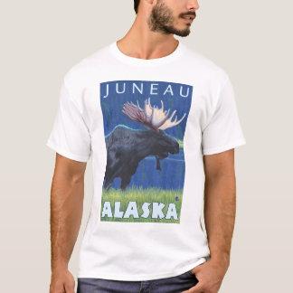 T-shirt Orignaux la nuit - Juneau, Alaska