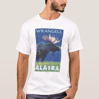 T-shirt Orignaux la nuit - Wrangell, Alaska