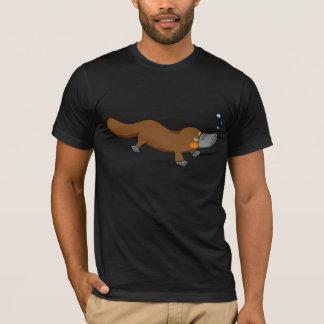 T-shirt Ornithorynque canard-affiché par natation mignonne