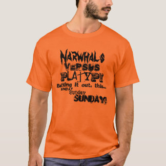 T-shirt Ornithorynque de Narwhal V.S