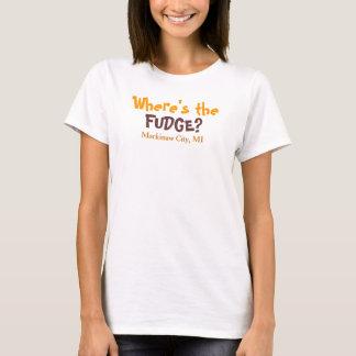 T-shirt Où est le FONDANT ? - Ville de Mackinaw, MI,