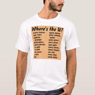 T-shirt Où est U ?