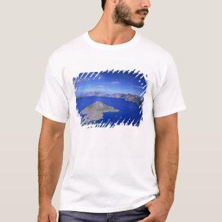 T-shirt OU, lac NP crater, île de magicien et cratère
