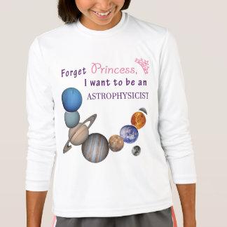 T-shirt Oubliez la princesse - astrophysicienne