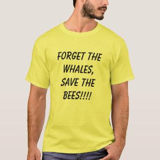 T-shirt Oubliez les baleines, sauvez les abeilles !