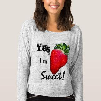 T-shirt Oui je suis la chemise des femmes douces de fraise