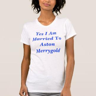 T-shirt Oui je suis marié à Aston Merrygold