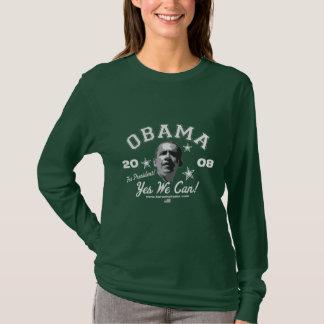 T-shirt Oui nous pouvons ! Gris de Long-Douille