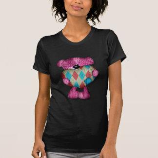 T-shirt ours à motifs de losanges doux de coeur