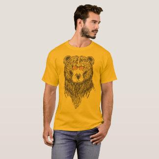 T-shirt Ours avec des verres