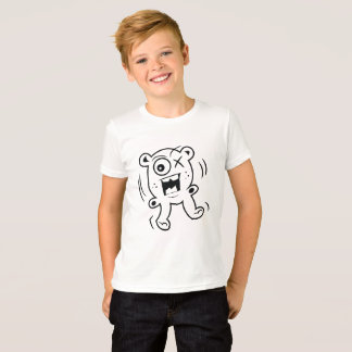 T-shirt Ours bancal effrayant