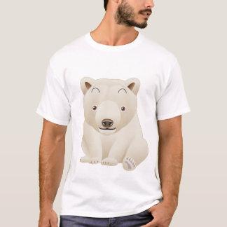 T-shirt Ours blanc de bébé mignon et câlin