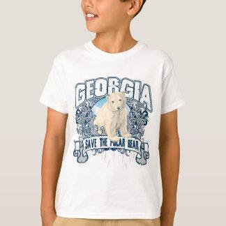 T-shirt Ours blanc la Géorgie