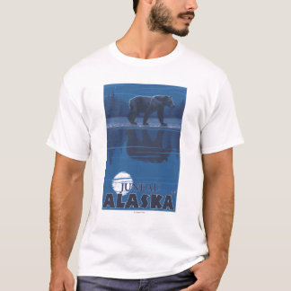T-shirt Ours dans le clair de lune - Juneau, Alaska