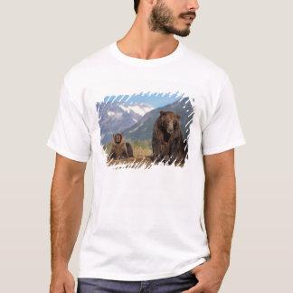T-shirt Ours de Brown, ours gris, truie avec l'petit