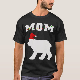 T-shirt Ours de maman avec l'assortiment de pyjama de Noël