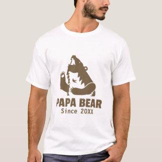 T-shirt Ours de papa de Brown depuis l'année de la