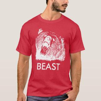 T-shirt Ours gris d'hurlement de bête