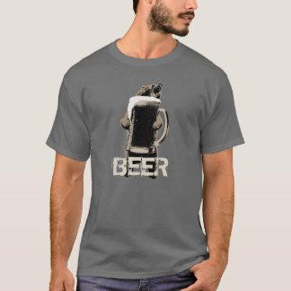 T-shirt Ours gris et bière drôles
