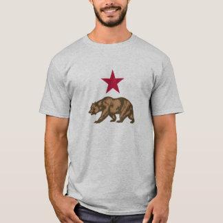 T-shirt Ours gris et étoile de République de la Californie
