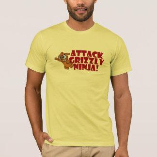 T-shirt Ours gris Ninja d'attaque