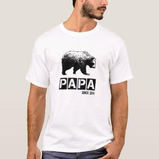 T-shirt Ours grunge de papa depuis 2014, noir
