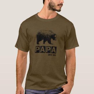 T-shirt Ours grunge de papa depuis l'année de la