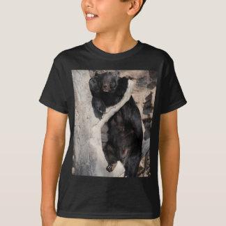 T-shirt Ours noir asiatique
