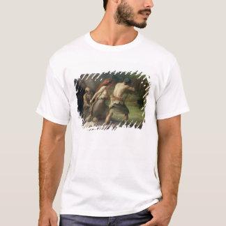 T-shirt Ours préhistoriques de chasse d'homme, 1832