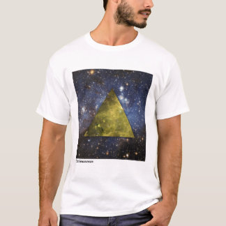 T-shirt OuterSpacewear - pyramide JAUNE