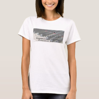 T-shirt Outre du bébé de piano de studio du monde - poupée