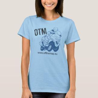 T-shirt Outre du logo de carte avec le pochoir