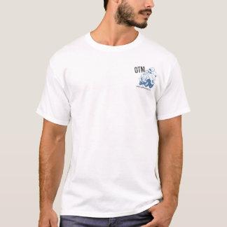 T-shirt Outre du logo de carte avec le pochoir, style de