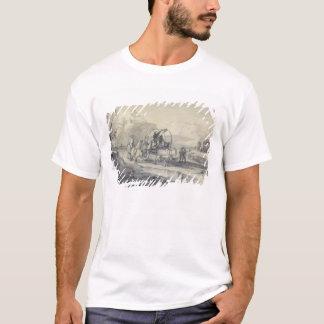 T-shirt Ouvrez le paysage avec le berger et le chariot
