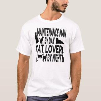 T-shirt Ouvrier chargé de l'entretien d'amoureux des chats
