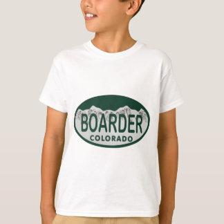 T-shirt ovale de permis de boader