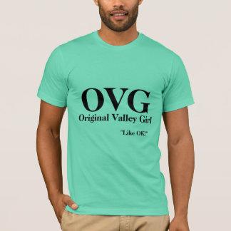 T-shirt OVG, fille originale de vallée,