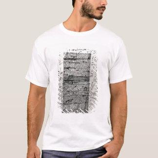 T-shirt Page d'un des travaux du Balzac