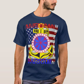 T-shirt Païen américain--Marin