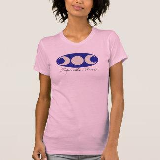 T-shirt Païen triple Wiccan de sorcière de lune