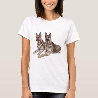 T-shirt Paires de chiens de berger allemand