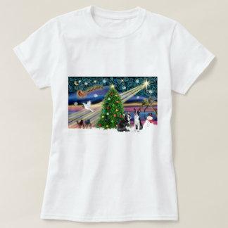 T-shirt Paires de Magie-BostonTerrier de Noël