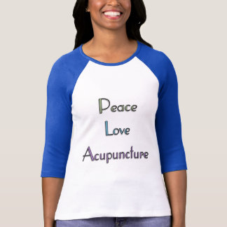 T-shirt Paix, amour, acuponcture