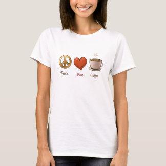 T-shirt Paix, amour, café