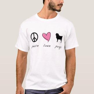 T-shirt Paix + Amour + Carlins