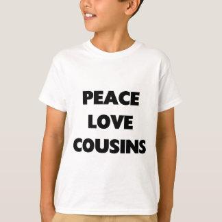 T-shirt Paix, amour, cousins