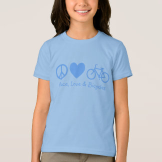 T-shirt Paix, amour et bicyclettes